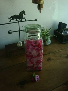 With the roses blooming everywhere, I usually make some rose oil for the year. It is very easy to make your own.  Just gather a bowl of the ...