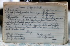 A classic vintage recipe from the files - Caramel Apple Cake