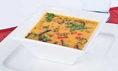 This Olivieri Red Thai Curry Butternut Squash Soup is a tasty way to bring some heat to your lunch Thai Curry Soup, Curried Butternut Squash Soup, Red Thai, Cheeseburger Chowder, Lunches, Tasty, Winter, Recipes, Food