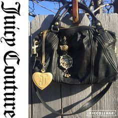 GORGEOUS Juicy Couture Bag! Black leather. Great overall condition. Awesome details! Juicy Couture Bags