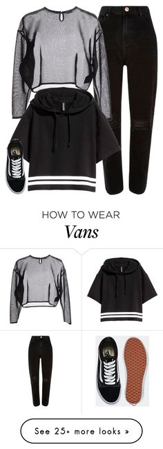"""#854"" by ifashion02 on Polyvore featuring River Island, Yves Saint Laurent and Vans"