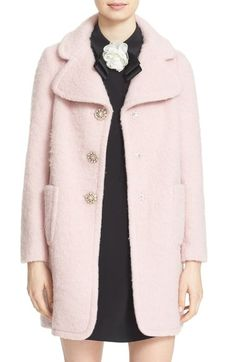 kate spade new york jewel button coat available at #Nordstrom