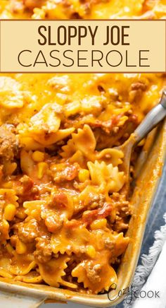 This Sloppy Joe Casserole is an easy one pot meal that was made for a busy week! This yummy casserole is a simple dinner idea the whole family will love. As a bonus, this cheesy ground beef recipe makes a great freezer meal!