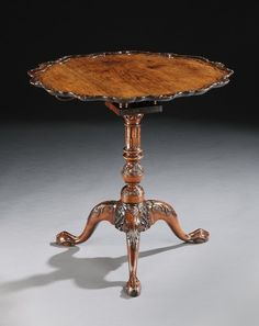 c. 1755 Anglo-Chinese Huand Huali Tripod Table.