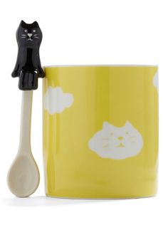 Height of the Morning Mug in Cat, #ModCloth