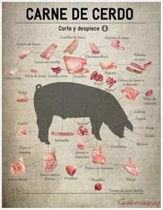 Carne de cerdo, corte y despiece - Tax Tutorial and Ideas Pork Recipes, Wine Recipes, Mexican Food Recipes, Fall Recipes, Recipies, Cooking Tips, Cooking Recipes, Cooking Pasta, Pork Meat