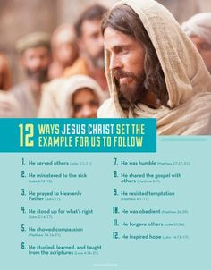 12 ways JESUS CHRIST set the example for us to follow