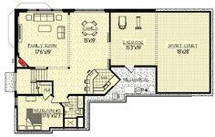 Plan 73363HS: Stunning Exclusive Craftsman with Optional Indoor Sport Court