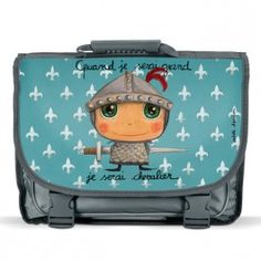 Cartable Chevalier Arty Toys, School Bags, Ipad Mini, Lunch Box, Bb, Illustrations, Vintage, Cat Backpack, When I Grow Up