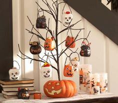 Discover kid friendly Halloween decorations at Pottery Barn Kids. Find festive Halloween decor that is perfect for the home, yard, or even a Halloween party. Table Halloween, Halloween Wall Decor, Halloween Table Decorations, Halloween Trees, Holidays Halloween, Halloween Crafts, Halloween Foto, Halloween 2013, Happy Halloween