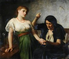 The Fortune Teller by Charles Edward Halle