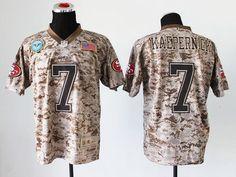 1887ddf8b42 Nike  49ers  7 Colin  Kaepernick Camo Men s Stitched  NFL New Elite USMC   Jersey