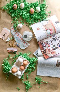 Magazines + Modge Podge = adorable Easter egg DIY