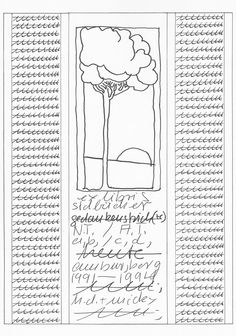 Untitled, 1991-94, pen, ink and print on paper, cm. 30x21