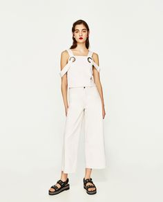 ZARA - WOMAN - TOP WITH RINGS AND SIDE VENTS