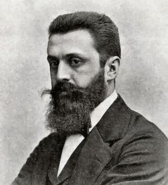 """The term """"Zionism"""" was first introduced in 1893 by Nathan Birmbaum, but Theodor Herzl, an Austrian Jew born to a prosperous, emancipated Budapest family, is recognized as the founder of… Israel History, Jewish History, Temple In Jerusalem, Good People, Amazing People, Many Faces, Interesting History, Socialism, Judaism"""