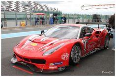 La Ferrari 488 GT3 n°1 Visiom des leaders Pagny / Perrier / Bouvet Ferrari 488, Audi Sport, Bugatti, Garage, Track, Racing, Vehicles, Car, Sports