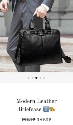 50a879dcd469 A modern leather briefcase for Lawyers and Law Students. This piece offers  great quality