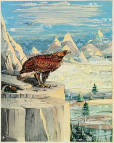 Bilbo and the eagle by Tolkien