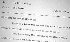 Nixon's Undelivered Moon Disaster Speech [1969]
