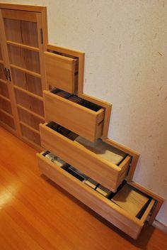 建築を考える-BCI Architect:階段下の引出し