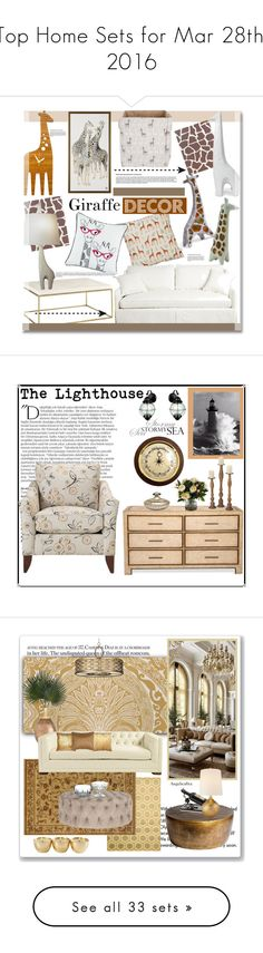 """""""Top Home Sets for Mar 28th, 2016"""" by polyvore ❤ liked on Polyvore featuring interior, interiors, interior design, home, home decor, interior decorating, Decoylab, Rosa & Clara Designs, Jonathan Adler and Home"""