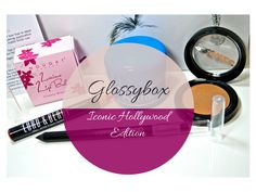 """This month's Glossybox was a special edition called """"Iconic Hollywood"""" based on recreating the Hollywood glam look of the statement red lip, cat eye flick and glowing skin. Glowing Skin, Hollywood"""