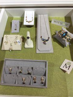 You can find Michou, wonderful colored gemstone jewelry, at Gemstone Creations.