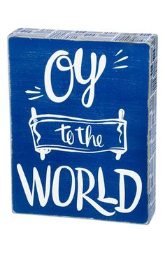 Primitives by Kathy 'Oy to the World' Box Sign available at #Nordstrom