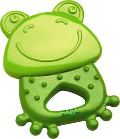Clutching toy Frog - Wooden Infant Rattle | HABA USA