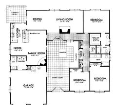 House Plan On Pinterest Courtyards Floor Plans And House Plans With