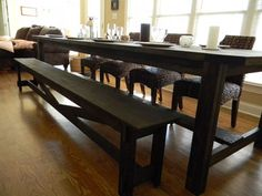 Kitchen Tables  Benches on Rustic Farmhouse Bench   Chairs   Barstools   Carolina Farmhouse