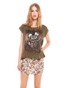 Bershka Serbia - Bershka skeleton print T-shirt