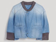 Rachel Comey Womens Condor Bomber Jacket in Herringbone Denim - 2013-2014 Fall Winter Collection denim bomber