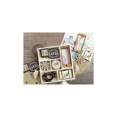 WOOD DIE CUTS - Prima French Riviera - Maritime Wood Die Cuts - Travel Wood Die Cuts - Coastal Wood Die Cuts - Sea Wood Die Cuts by OneDayLongAgo on Etsy