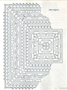 Transcendent Crochet a Solid Granny Square Ideas. Inconceivable Crochet a Solid Granny Square Ideas. Crochet Mandala Pattern, Granny Square Crochet Pattern, Crochet Stitches Patterns, Crochet Squares, Crochet Granny, Crochet Diy, Crochet Chart, Crochet Home, Thread Crochet