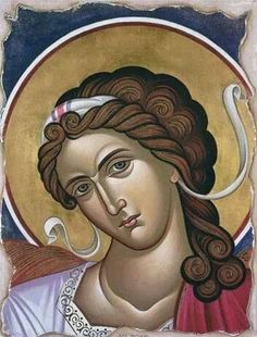the archangel Raphael Religious Images, Religious Icons, Religious Art, Byzantine Art, Byzantine Icons, Art Icon, Guardian Angels, Orthodox Icons, Sacred Art