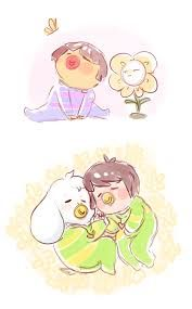 Baby Frisk,Chara and Asriel