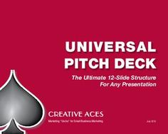 Universal Pitch Deck: The ultimate structure for ANY presentation Self Promotion, Business Proposal, Pitch Perfect, Small Business Marketing, Presentation, Decks, Deck, Terrace, Porch