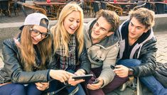 Group of young hipster friends having fun with smartphones. Group of young hipst , Youth Worker, Tracking App, Photo Grouping, Real Relationships, Medical News, Youth Ministry, Good Parenting, Tv Commercials, A Team