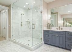 Bathroom with large hex floor tile. Bathroom with large hex floor tiles. Bathroom with large hex floor tiling on floors and shower. Bathroom with large hex floor tile #Bathroom #largehextile #hexfloortile #hextile