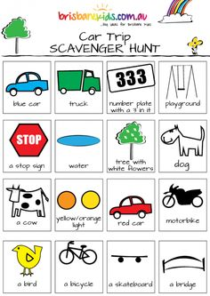 car trip scavenger hunts