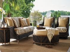 Tommy Bahama Outdoor Furniture with elegant sofa
