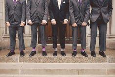 Goofy grooms. Photo by Kim. #groomsocks #minnesotaweddingphotographers