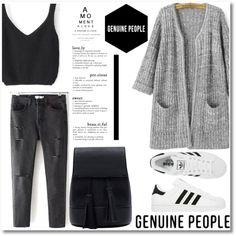 GENUINE PEOPLE #1 by madamitsa on Polyvore featuring adidas, Michael Kors and Genuine_People