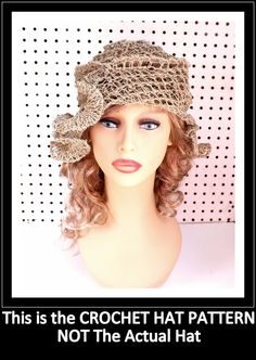 Crochet Pattern Womens Crochet Hat Pattern Womens Hat Hemp Cord Crochet Beanie Hat Pattern CYNTHIA 5.00 USD by #strawberrycouture on #Etsy - MUST SEE!