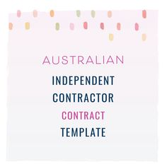 116 best contract templates images on pinterest in 2018 online australian independent contractor contract template contracts creativeentrepreneurs smallbusinesses contractsforcreatives legaltips trademarks friedricerecipe Choice Image