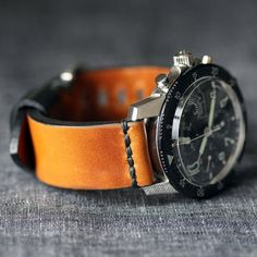 Model 1 Rye Horween Watch Strap by Worn & Wound