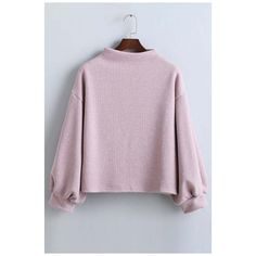 Fashion Plain Half High Neck Batwing Long Sleeve Elastic Cuffs... (€27) ❤ liked on Polyvore featuring tops, hoodies, sweatshirts, cotton pullover sweatshirt, high neck sweatshirt, long sweatshirt, long sleeve tops and purple sweatshirt