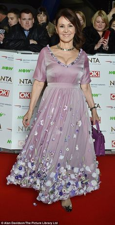 Former Strictly judge Arlene Phillips looked like she'd ransacked an eight-year-old's wardrobe and taken a bridesmaid's outfit Georgie Porter, National Tv Awards, Hollyoaks, Fashion Fail, Bridesmaid Outfit, In The Flesh, Red Carpet Fashion, Hemline, Bridal Gowns